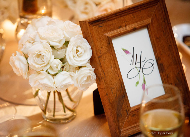 Frankel wedding table number